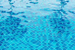 Blue pool water Stock Image