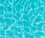 Blue pool water Royalty Free Stock Photos