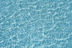 Blue pool water transparent texture reflexion. And waves Stock Photos