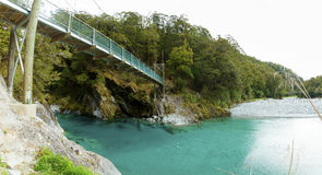 Blue Pools in Mount Aspiring National Park Stock Photos