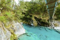 Blue Pools in Mount Aspiring National Park Royalty Free Stock Image