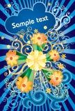 Blue pop flower Royalty Free Stock Image