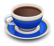 Blue porcelain coffee cup Royalty Free Stock Image