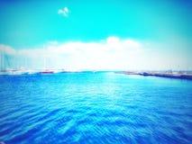 Blue port stock photo