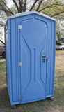 Blue Porta Potty Outhouse at an event Stock Images