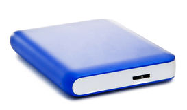 Blue Portable Drive Stock Photo