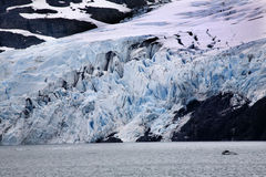 Blue Portage Glacier Lake Anchorage Alaska Stock Photography
