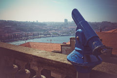 Blue Porto Telescope Stock Photography