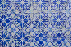 Blue Portuguese tile Royalty Free Stock Photo