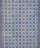 Blue Portuguese tile Royalty Free Stock Photography