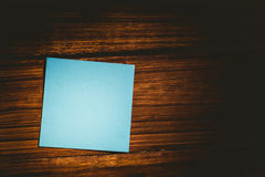 A Blue post it note Royalty Free Stock Photo