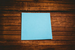 A Blue post it note Royalty Free Stock Image