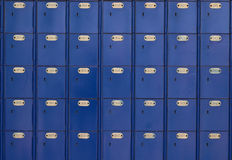 Blue post office boxes 1 Royalty Free Stock Images