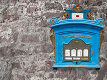 blue postbox Stock Photos