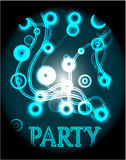 Blue poster - party Royalty Free Stock Image