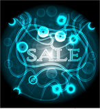 Blue poster Royalty Free Stock Photography