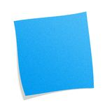 Blue postit. Note with white background Royalty Free Stock Photography