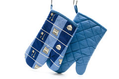 Blue pot glove Royalty Free Stock Images