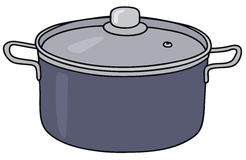 Blue pot Stock Image