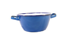 Blue pot. In white background stock photos