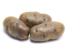 Blue Potatoes Stock Photos