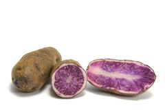 Blue Potatoes Royalty Free Stock Photography
