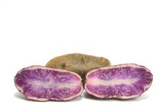 Blue Potatoes Stock Photo