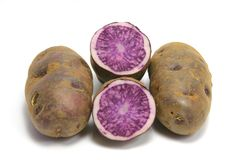 Blue Potatoes Royalty Free Stock Photo
