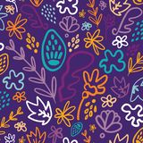 Blue potpourri floral seamless pattern royalty free illustration