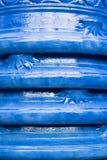 Blue pots Stock Photos