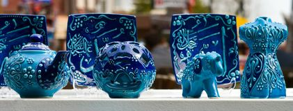 Blue potterry Royalty Free Stock Photo