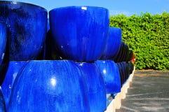 Blue pottery Royalty Free Stock Photo