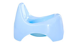 Blue potty for baby Royalty Free Stock Image