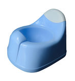 Blue potty for little child Stock Image