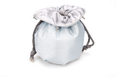 Blue pouch to hold Jewelry and delicate items Stock Images