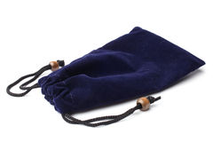 Blue pouch Royalty Free Stock Image