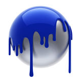 Blue poured ball Royalty Free Stock Photos