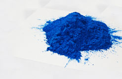 Blue powder Royalty Free Stock Photo