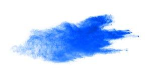 Blue powder explosion isolated on white background Stock Photography