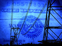 Blue power Stock Photos