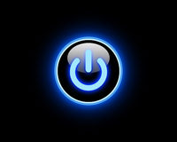 Blue Power button Royalty Free Stock Photos