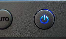 Blue power button Stock Images