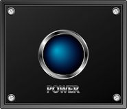 Blue power button Royalty Free Stock Photo