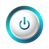 Blue Power Button. Royalty Free Stock Image