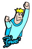 Blue power man Royalty Free Stock Image