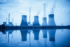 Blue power plant Royalty Free Stock Photos