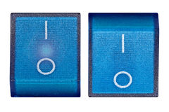Blue power switch on/off Royalty Free Stock Photography