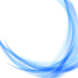 Blue power swoosh wave modern template Royalty Free Stock Images