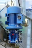 Blue powerful electric motors for modern Stock Photography