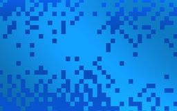 Blue ppixels covering cooper blue brigth background royalty free stock photography